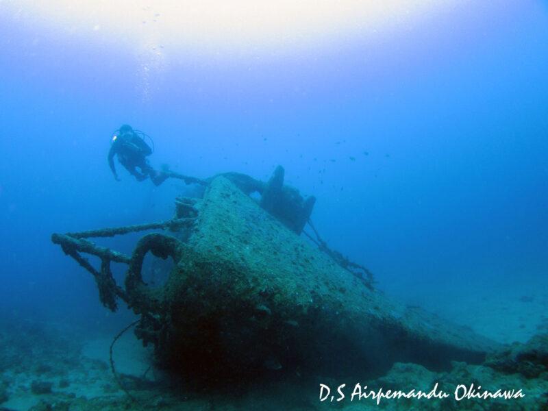 古宇利島の沖に眠る全長約100mの沈船ダイブ!USSエモンズを潜ろう(No.103)