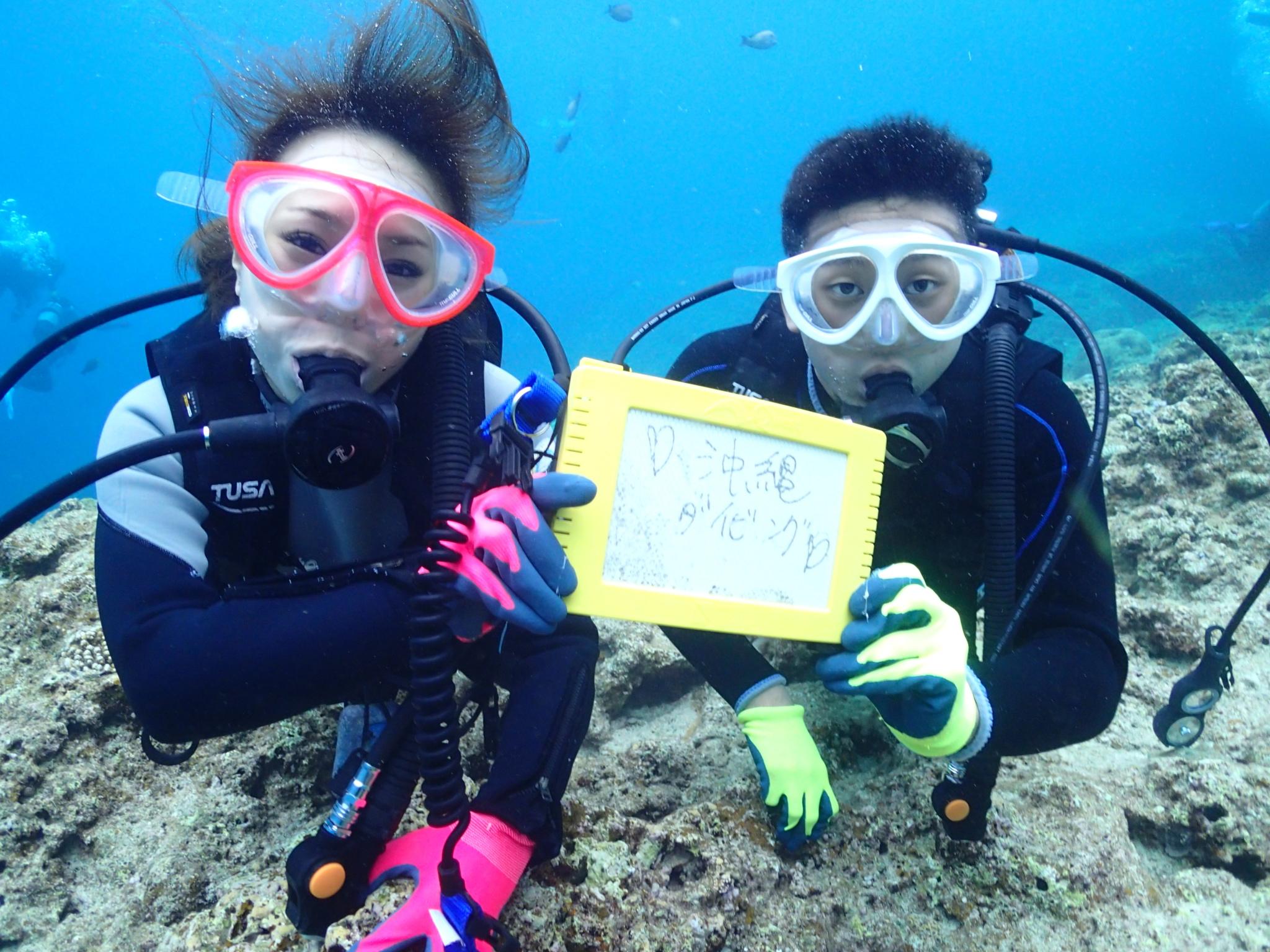 【恩納村】初心者大歓迎!1番やさしい「青の洞窟」体験ダイビング(No.90)