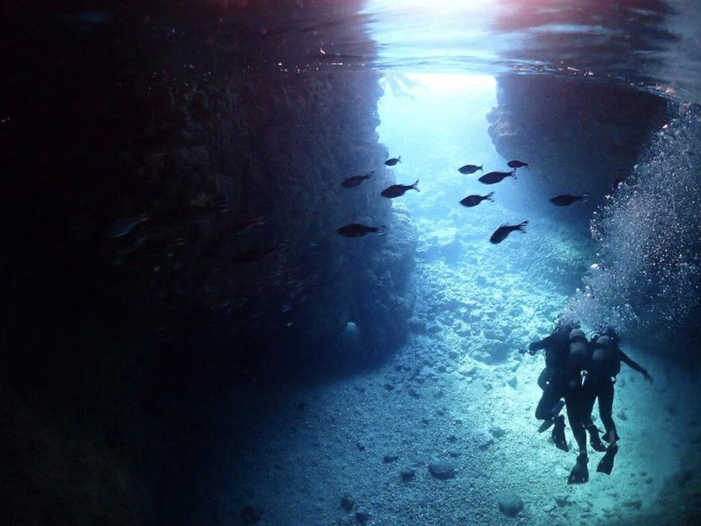 美しい光景と出会う青の洞窟ダイビング