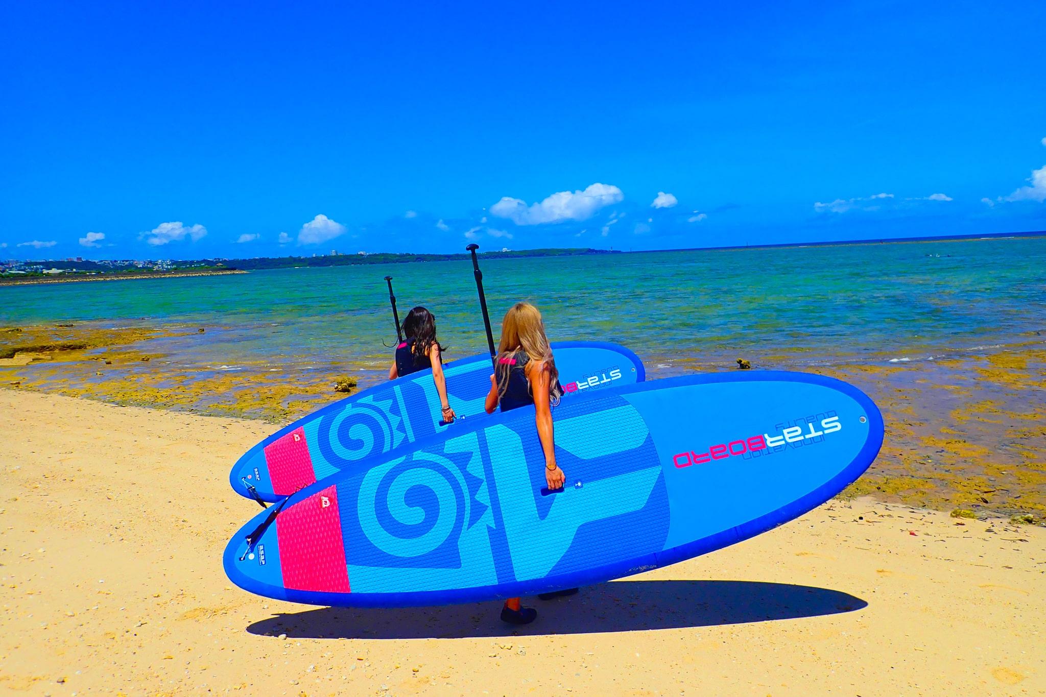 【恩納村】沖縄のビーチでSUP体験クルージング!(No.13)