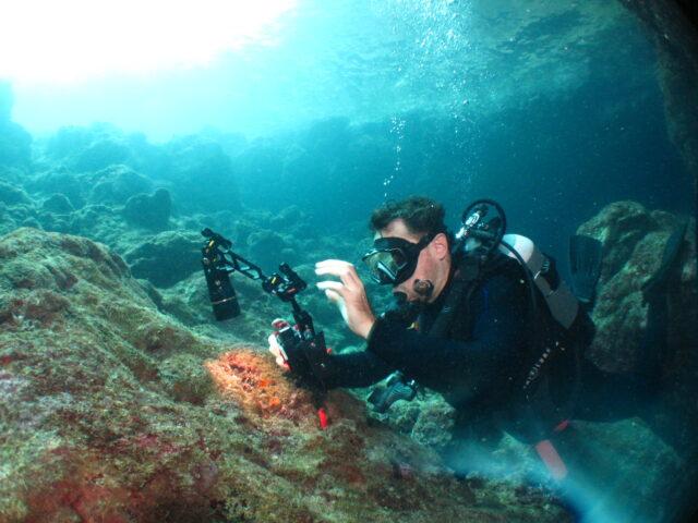 青の洞窟でファンダイビング