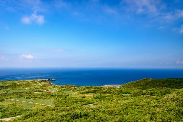 大石林山から見る辺戸岬
