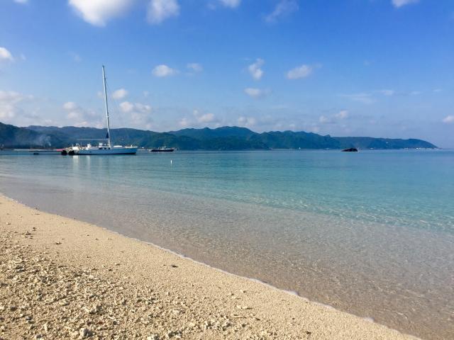 沖縄国頭村のビーチ