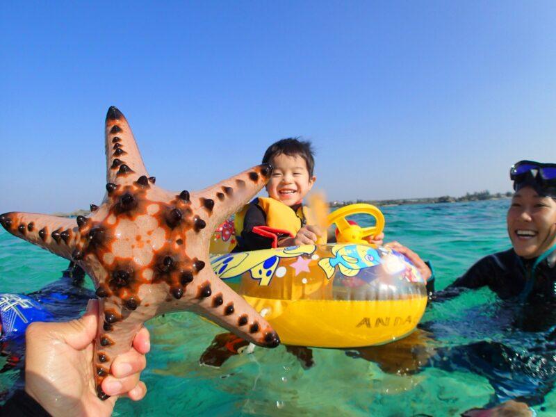 【恩納村】3歳から参加可能!カヤックで行く無人島&熱帯魚シュノーケル(No.88)