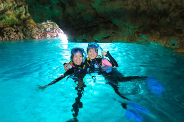 青の洞窟シュノーケル&美ら海体験ダイビングSET
