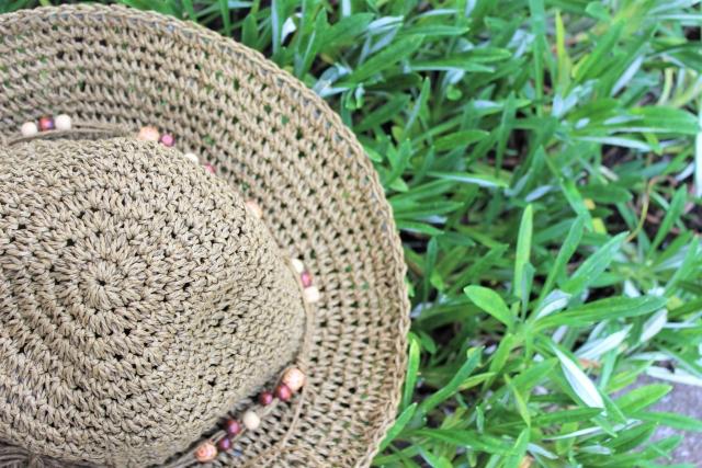 紫外線防止・麦わら帽子